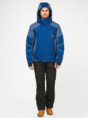 Мужской зимний костюм горнолыжный синего цвета 01972S