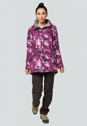 Женский осенний весенний костюм спортивный softshell фиолетового цвета 01922-2F