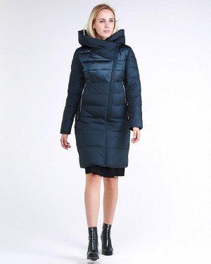 Женская зимняя молодежная куртка стеганная темно-зеленного цвета 870_03TZ