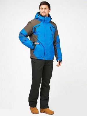 Мужской зимний костюм горнолыжный голубого цвета 01972Gl