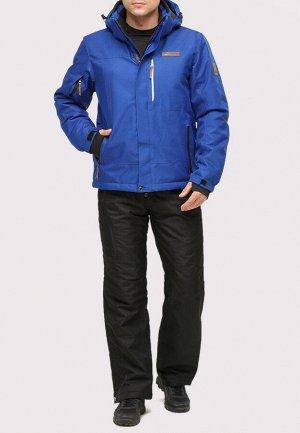 Мужской зимний костюм горнолыжный синего цвета 01901S