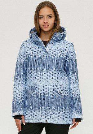 Женская зимняя горнолыжная куртка синего цвета 1803S