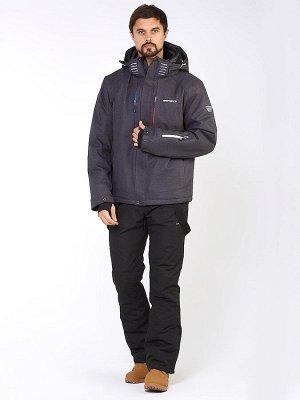 Мужской зимний костюм горнолыжный темно-серого цвета 01947TС