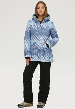 Женский зимний костюм горнолыжный синего цвета 01803S