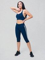 Женский всесезонный костюм для фитнеса темно-синего цвета 212908TS