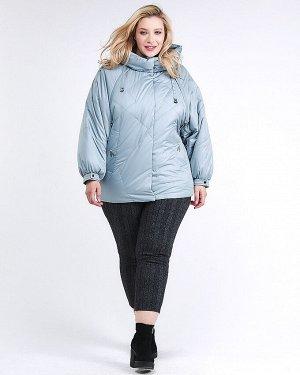 Женская зимняя классика куртка большого размера серого цвета 78-902_3Sr
