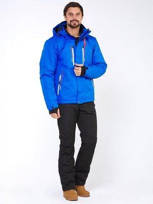 Мужской зимний костюм горнолыжный голубого цвета 01966Gl