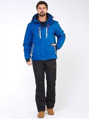 Мужской зимний костюм горнолыжный синего цвета 01966S