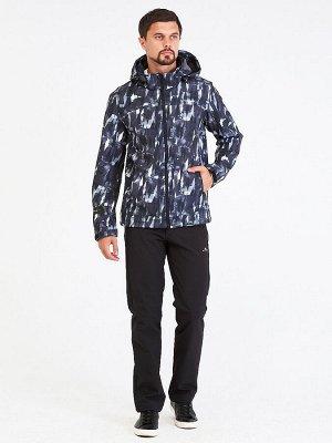 Мужской осенний весенний костюм спортивный softshell серого цвета 01915Sr