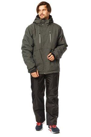 Мужской зимний костюм горнолыжный цвета хаки 01768Kh