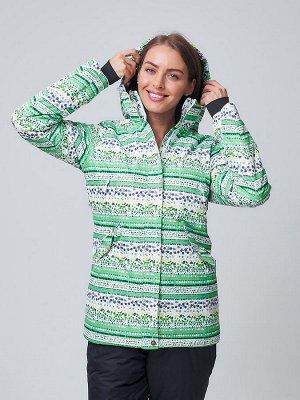 Женская зимняя горнолыжная куртка салатового цвета 1937Sl