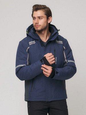 Мужская зимняя горнолыжная куртка MTFORCE темно-синего цвета 1971-1TS