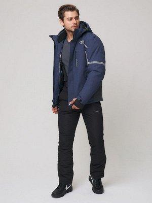 Мужской зимний горнолыжный костюм MTFORCE темно-синего цвета 01971-1TS