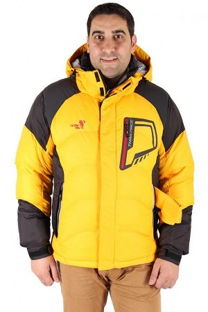 Мужской зимний пуховик желтого цвета 9406J