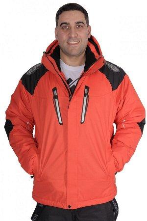 Куртка горнолыжная мужская оранжевый цвета 1557O