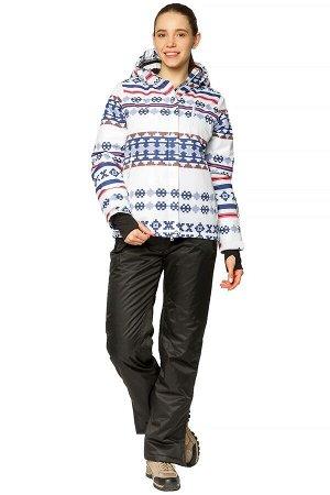 Женский зимний костюм горнолыжный белого цвета 01795Bl