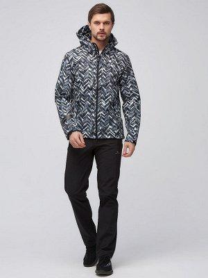 Мужской осенний весенний костюм спортивный softshell серого цвета 01915-1Sr