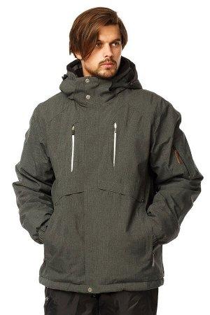 Мужская зимняя горнолыжная куртка цвета хаки 1768Kh