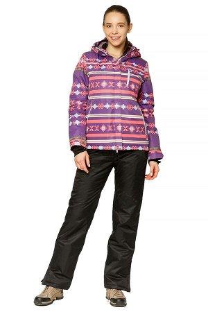 Костюм горнолыжный женский фиолетового цвета 01795F