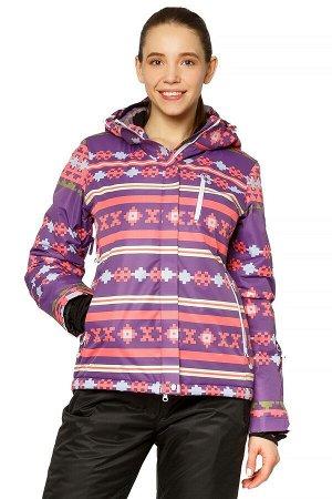 Женская зимняя горнолыжная куртка фиолетового цвета 1795F