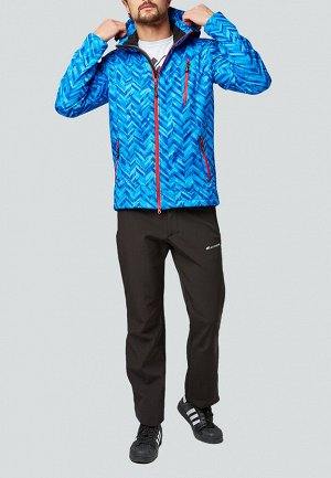 Мужской осенний весенний костюм спортивный softshell синего цвета 01941S