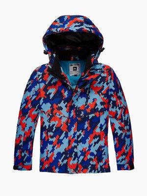 Подростковая для девочки зимняя горнолыжная куртка красного цвета 1774Kr