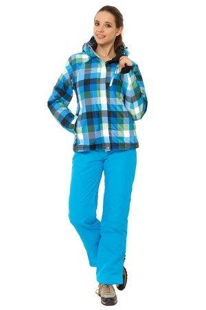 Женский зимний костюм горнолыжный голубого цвета 01807Gl