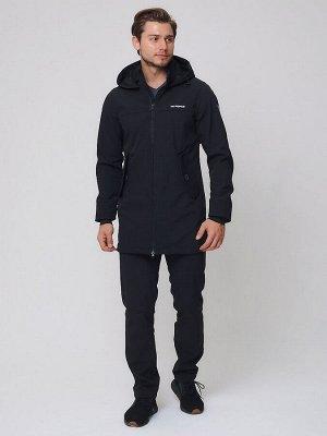 Спортивный костюм мужской MTFORCE черного цвета 02020Ch
