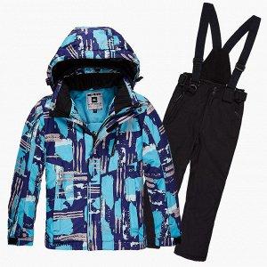 Подростковый для девочки зимний костюм горнолыжный голубого цвета 01773Gl