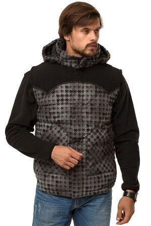 Мужская зимняя жилетка утепленная серого цвета 666Sr