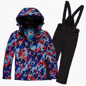 Подростковый для девочки зимний костюм горнолыжный красного цвета 01774Kr