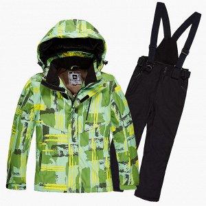 Подростковый для девочки зимний костюм горнолыжный салатового цвета 01774Sl