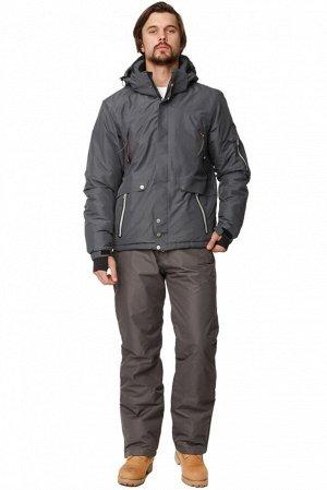 Мужской зимний костюм горнолыжный темно-серого цвета 01788TC