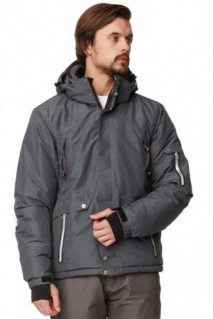 Мужская зимняя горнолыжная куртка темно-серого цвета 1788TC