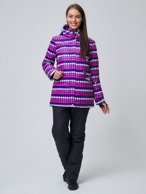 Женский зимний костюм горнолыжный темно-фиолетового цвета 01937TF