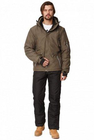 Мужской зимний костюм горнолыжный цвета хаки 01788Kh