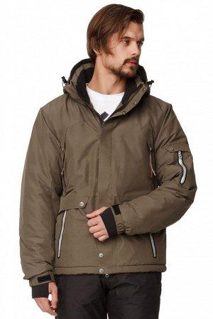 Мужская зимняя горнолыжная куртка цвета хаки 1788Kh