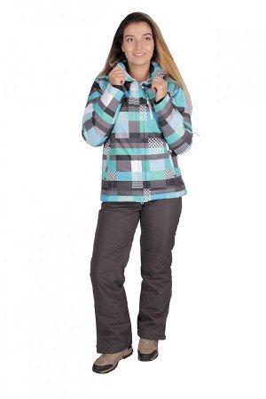 Женский зимний костюм горнолыжный бирюзового цвета 01784Br