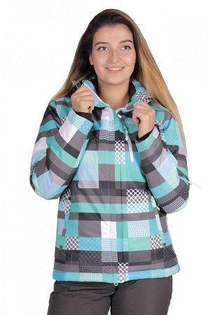 Женская зимняя горнолыжная куртка бирюзового цвета 1784Br