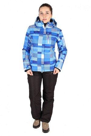Женский зимний костюм горнолыжный синего цвета 01784S