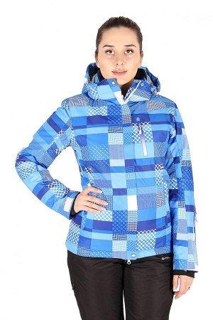 Женская зимняя горнолыжная куртка синего цвета 1784S
