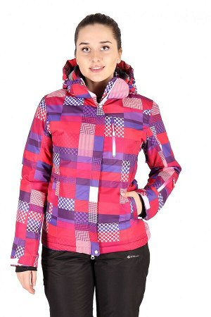 Женская зимняя горнолыжная куртка розового цвета 1784R