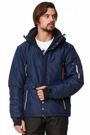 Мужская зимняя горнолыжная куртка темно-синего цвета 1788TS