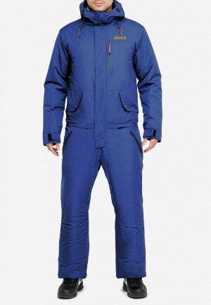 Мужской зимний комбинезон синего цвета 18126S