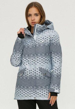 Женская зимняя горнолыжная куртка серого цвета 1810Sr