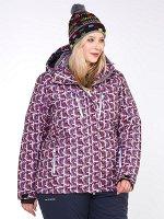 Женская зимняя горнолыжная куртка малинового цвета 18112M