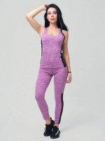 Спортивный костюм для фитнеса фиолетового цвета 21130F