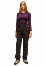 Женские зимние горнолыжные брюки черного цвета 905Ch