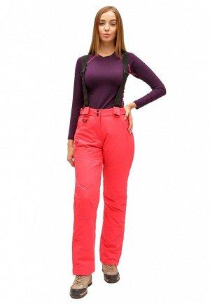 Женские зимние горнолыжные брюки малинового цвета 905M