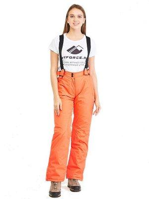 Женские зимние горнолыжные брюки персикового цвета 818P